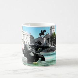 Statue and fountain in Trafalgar Square Coffee Mug