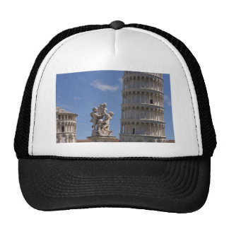 Statue and leaning Tower of Pisa Cap