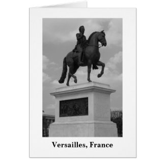 Statue at Versailles (Blank) Card