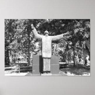 Statue Father Francisco López de Mendoza Grajales Poster
