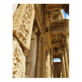 Statue in a Library, Celsus Library, Ephesus Postcard
