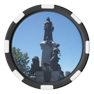 Statue in Montreal City Poker Chips