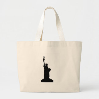 statue-liberty large tote bag