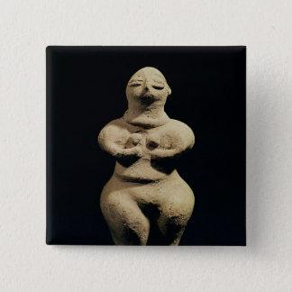 Statue of a goddess, 6th millennium BC 15 Cm Square Badge