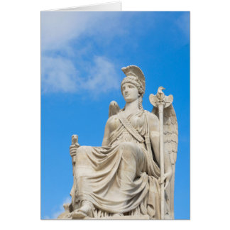 Statue of a queen card