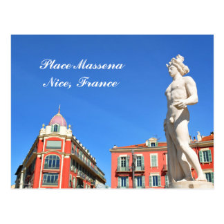 Statue of Apollo (Neptune) overlooking Place Masse Postcard