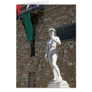 Statue of David at the Palazzo Vecchio Card