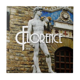 Statue of David Florence Italy Travel Photo Tile