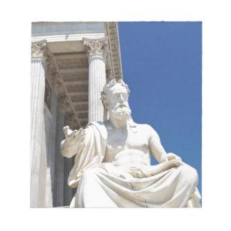 Statue of Greek philosopher Notepad