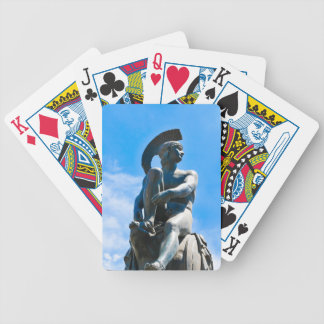 Statue of Greek soldier in Athens, Greece Bicycle Playing Cards