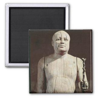 Statue of Ka-Aper Square Magnet