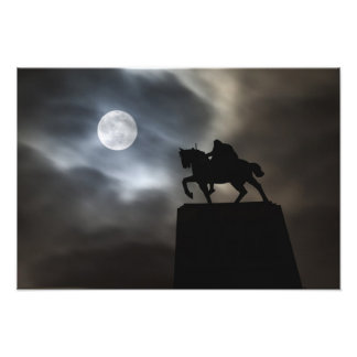 Statue of King Kralja Tomislava silhouetted Art Photo