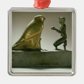 Statue of King Taharqa worshipping the falcon-god Ornaments