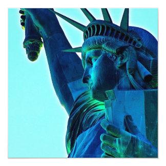 Statue of Liberty 13 Cm X 13 Cm Square Invitation Card