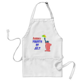 Statue of liberty 4th of July Standard Apron