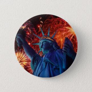 Statue of Liberty 6 Cm Round Badge