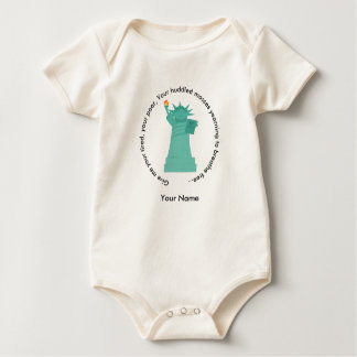 Statue of Liberty American Apparel Baby Bodysuit
