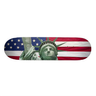 Statue of Liberty and American Flag Skate Decks