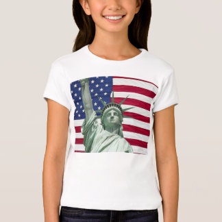 Statue of Liberty and American Flag T-shirt