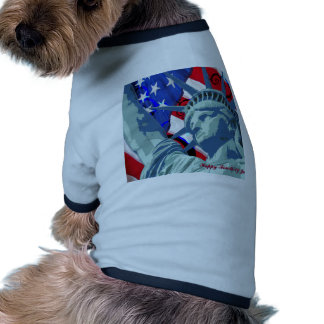 Statue of Liberty and Patriotic American Flag Pet Clothes