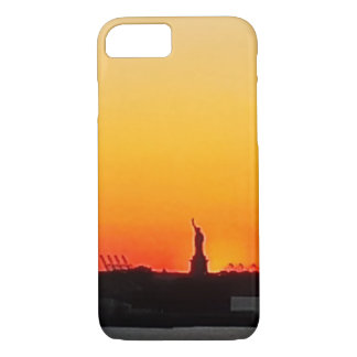 Statue of Liberty at Sunset on iPhone 7 B.T. Case