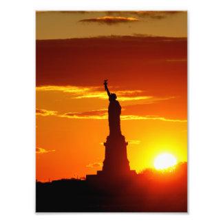 Statue of Liberty at Sunset Photograph