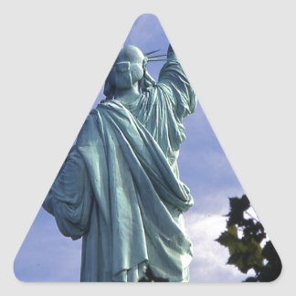 Statue of Liberty -Back View Triangle Stickers