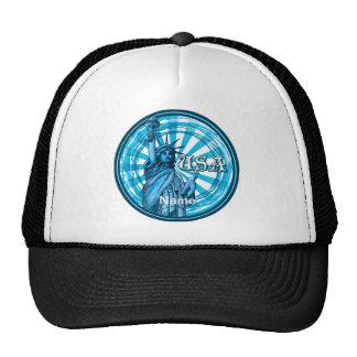 Statue Of Liberty Blue USA Mesh Hat