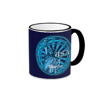Statue Of Liberty Blue USA Mug