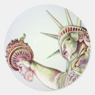 Statue Of Liberty Classic Round Sticker