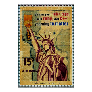 Statue of Liberty/Code Poster