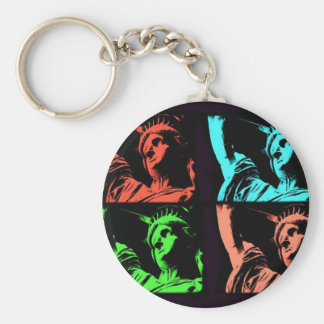 Statue of Liberty Collage Key Ring