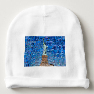 statue of liberty collage - statue of liberty art baby beanie