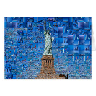 statue of liberty collage - statue of liberty art card