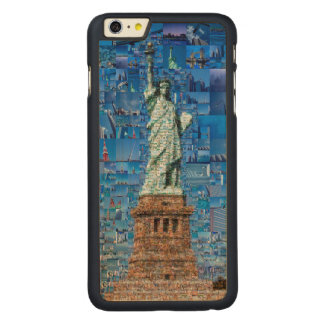 statue of liberty collage - statue of liberty art carved maple iPhone 6 plus case