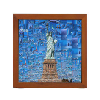 statue of liberty collage - statue of liberty art desk organiser