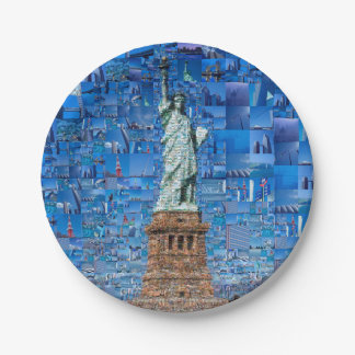 statue of liberty collage - statue of liberty art paper plate