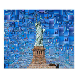 statue of liberty collage - statue of liberty art photo print