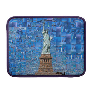 statue of liberty collage - statue of liberty art sleeve for MacBook air