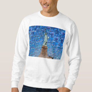 statue of liberty collage - statue of liberty art sweatshirt