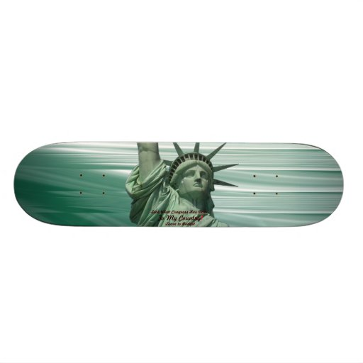 Statue of Liberty Crying Skate Board Deck