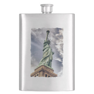 Statue of Liberty custom monogram flask