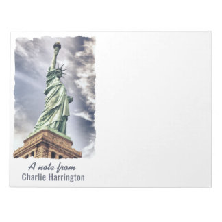 Statue of Liberty custom text notepad