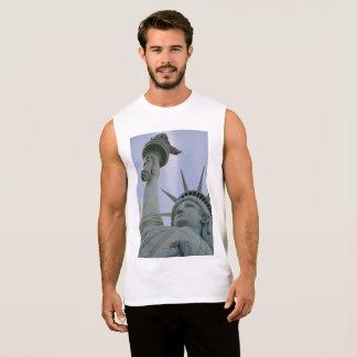 Statue of Liberty Design Sleeveless Shirt