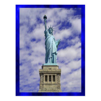 Statue of Liberty, Ellis Island, New York Postcard