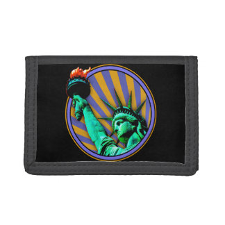 Statue of Liberty Emblem Design Trifold Wallets