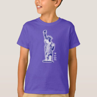 Statue of Liberty Girl Fitted Bella Babydoll Shirt