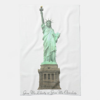 Statue of Liberty Give Me Chocolate Towel