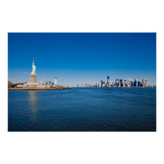 Statue of Liberty, Hudson River and Manhattan