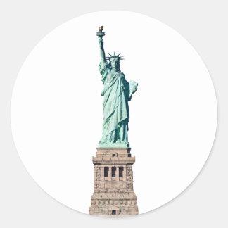 Statue of Liberty in New York Classic Round Sticker